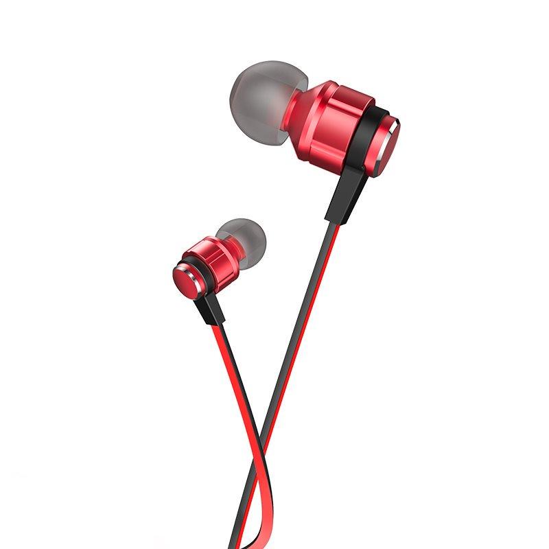 HOCO M85 Platinum sound universal earphone με μικρόφωνο red flame