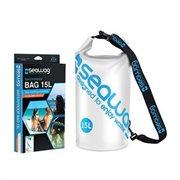 BAG SEAWAG WATERPROOF 15L STRAP & HANDLE WHITE & BLUE