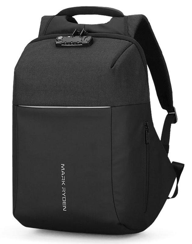 "MARK RYDEN τσάντα πλάτης MR6768 θήκη laptop 15.6"" λουκέτο TSA μαύρη"