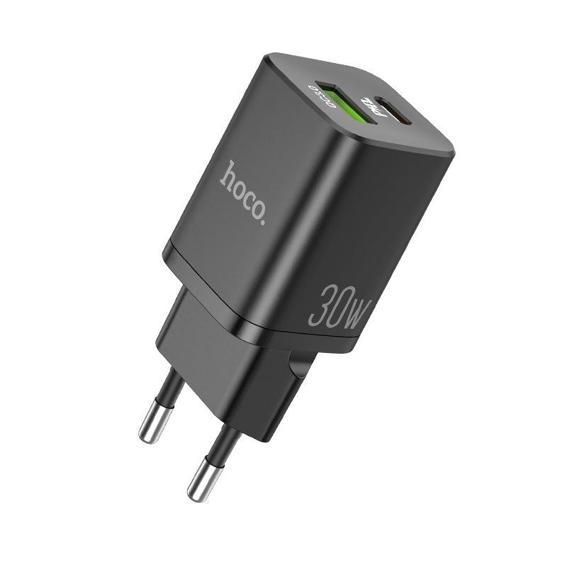 HOCO N13 Bright σετ φορτιστή PD30W+QC3.0 (Type-C To Lightning) (ΕU)