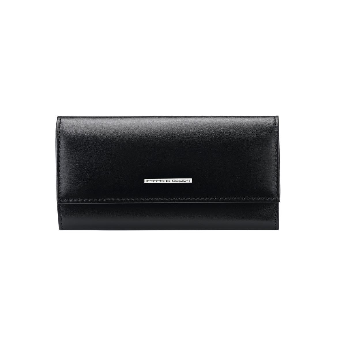 Porsche Design κλειδοθήκη δερμάτινη 13x7cm σειρά Classic Key Case L Black