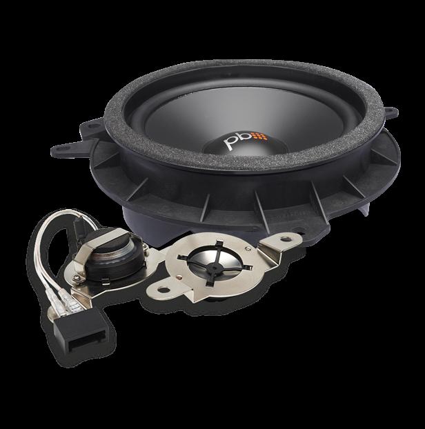 """Powerbass OE65C-TY Ηχεία αυτοκινήτου ΟΕΜ Διαιρούμενα 6.5"""" 60W RMS (Ζευγάρι)"""