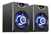POWERTECH ηχεία Crystal sound PT-842 2x 3W 3.5mm μαύρα