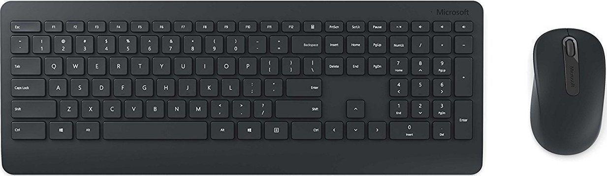 Micosoft Ασύρματο Πληκτρολόγιο & Ποντίκι Desktop 900 Μαύρο