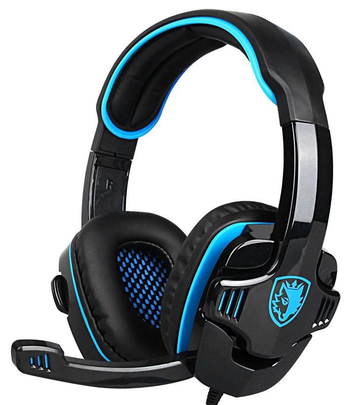 SADES gaming headset SA-708GT 3.5mm 40mm μπλε