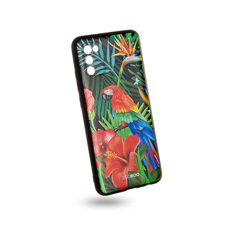 EGOBOO Case Mat TPU Jungle Parrot (Samsung A02s)