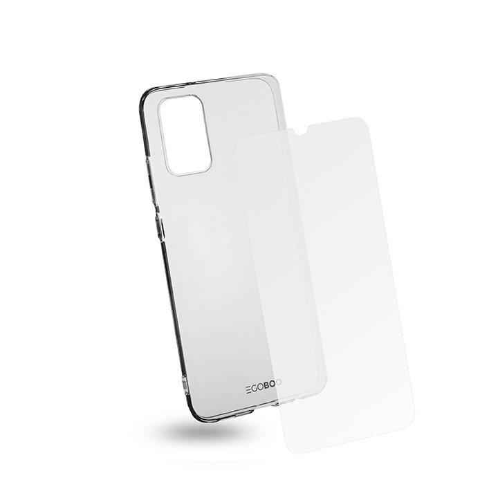 EGOBOO Tempered Glass + Case TPU Transparent (Samsung A02s)