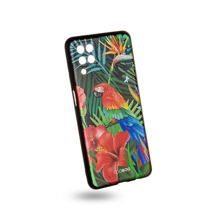 EGOBOO Case Mat TPU Jungle Parrot (Samsung A12)