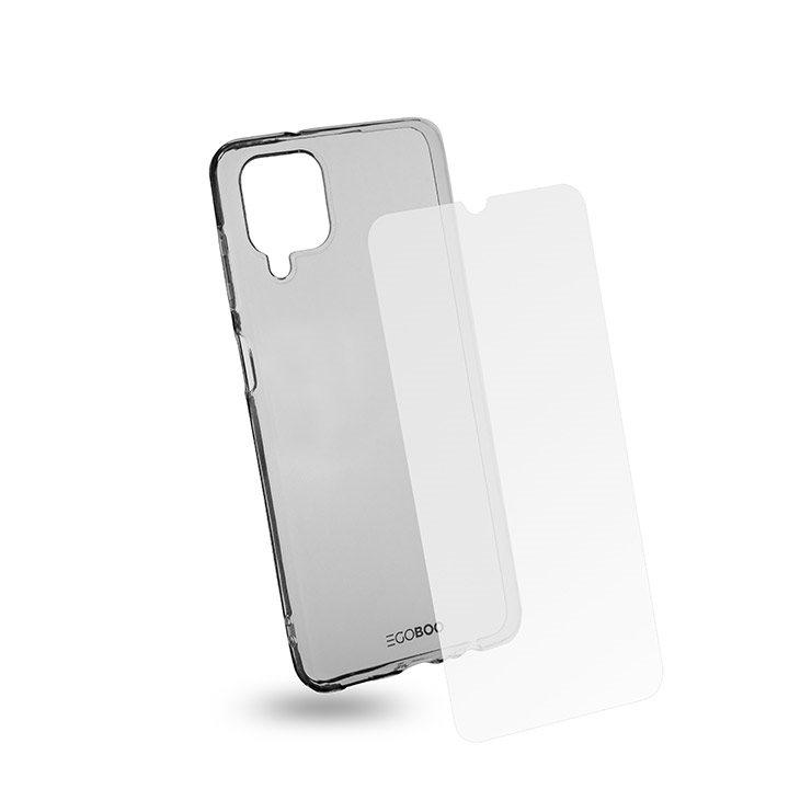 EGOBOO Tempered Glass + Case TPU Transparent (Samsung A12)