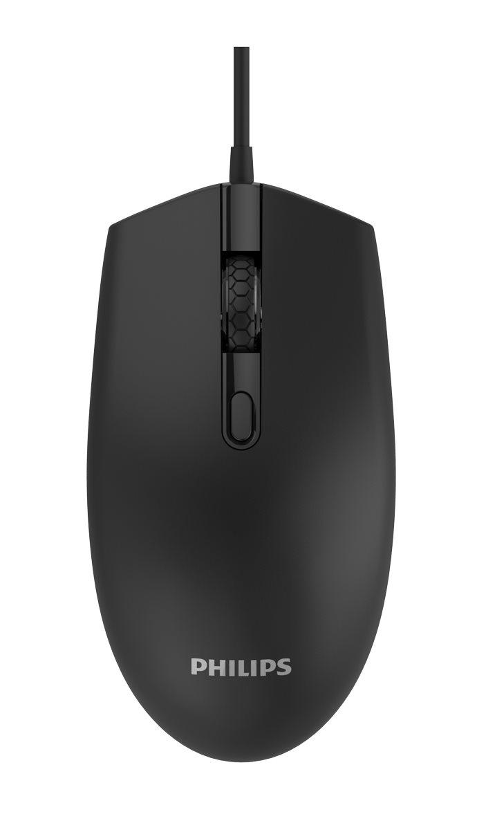 PHILIPS ενσύρματο ποντίκι SPK7204-ΒΚ 1200DPI USB 4 πλήκτρα μαύρο