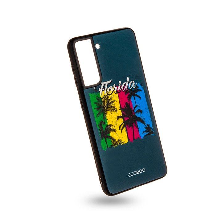 EGOBOO Case Glass TPU Florida (Samsung S21 Ultra)