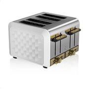 Swan 4 Slice Metal Toaster – Άσπρο