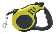 Λουράκι σκύλου TMV-0047 με ιμάντα & stop 5m κίτρινος