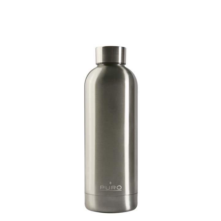 Puro Hot Cold Matt Bottle 500ml - Ασημί