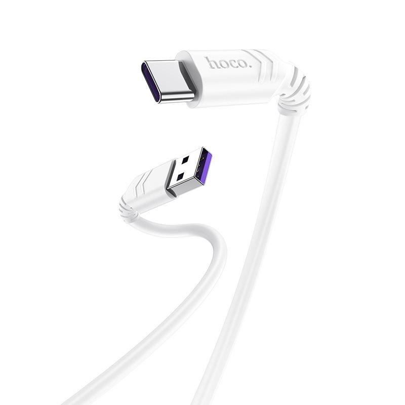 HOCO X62 Fortune Καλώδιο Ταχείας Φόρτισης (Fast Charging) USB to Type C Λευκό 1m, 5Α