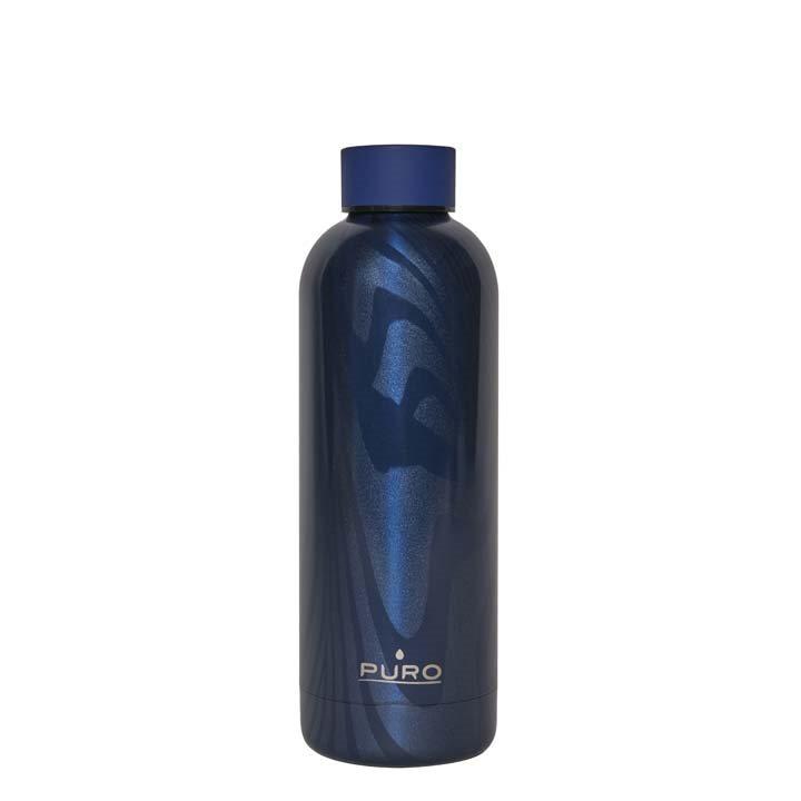 Puro Hot Cold Stripe Bottle 500ml Σκούρο Μπλε