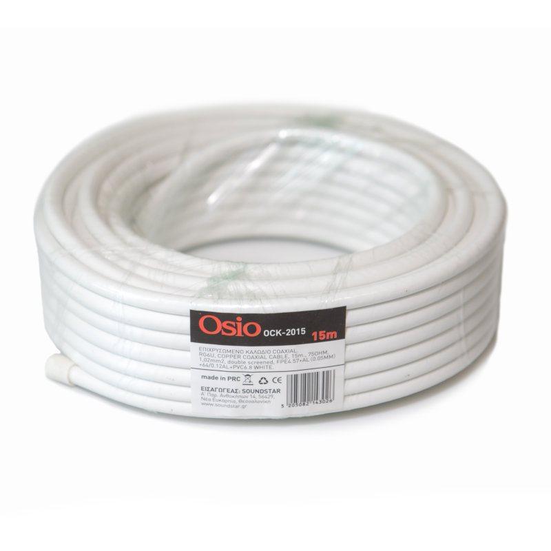 Osio OCK-2015 Ομοαξονικό καλώδιο κεραίας 15M 75Ω
