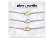 Pierre Cardin Σετ Βραχιόλια 3 τεμαχίων από Κράμα Ασημιού
