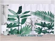 Κουρτίνα Μπάνιου από πολυεστέρα, με σχέδιο φυτά,  180x200 cm, Exploration