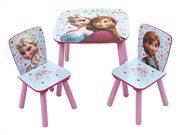Ξύλινο Παιδικό Σετ Τραπεζάκι με 2 καρέκλες με θέμα Frozen, διαστάσεις 50x50x44 cm