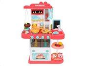 Σετ Παιδική Κουζίνα 43 τεμαχίων με Ηχητικές Ειδοποιήσεις σε ροζ χρώμα, 23x50x72 cm