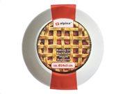 Alpina Στρογγυλό Μικρό Βαθύ Ταψί Ψησίματος με αντικολλητική επίστρωση σε κόκκινο χρώμα, 24x3 cm