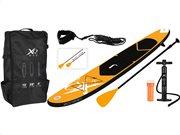 Σετ Φουσκωτή Σανίδα SUP με αξεσουάρ και Τσάντα Μεταφοράς σε Πορτοκαλί χρώμα, XQ Max SUP Board