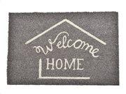 Πατάκι Χαλάκι Εισόδου σε γκρι χρώμα με επιγραφή Welcome Home 60x40 cm, Coco