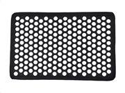 Πατάκι Χαλάκι εισόδου με διάτρητο σχέδιο σε μαύρο χρώμα 40x60 cm, Harold