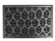 Πατάκι Χαλάκι εισόδου με σχέδιο φύλλα σε μαύρο χρώμα 40x60 cm, Central Park