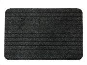 Πατάκι Χαλάκι εισόδου με σχέδιο ρίγες σε γκρι χρώμα 40x60 cm, Chloe