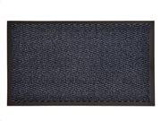 Πατάκι Χαλάκι εισόδου σε μπλε χρώμα με βάση από καουτσούκ 60x80 cm, Lisa
