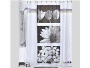 Κουρτίνα Μπάνιου με εικόνες Λουλουδιών 180x200 cm, Chloe