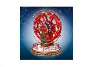 Χριστουγεννιάτικος Μύλος Καρουζέλ διακοσμητικό με Led Φωτισμό, κίνηση και φωτισμό, 20,9x20,9x26,4 cm
