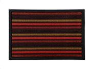 Πατάκι Χαλάκι εισόδου σε πορτοκαλί χρώμα με σχέδιο ρίγες, 40x60 cm, Doormat with stripes