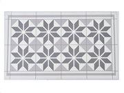 Πατάκι χαλάκι κουζίνας με Print σε Γκρι φόντο, Honore, 45x75cm