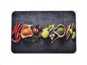Πατάκι χαλάκι κουζίνας με σχέδιο μπαχαρικά, 40x60 cm, Kitchen mat Spices