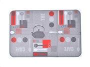 Πατάκι χαλάκι κουζίνας με σχέδιο αξεσουάρ κουζίνας, 40x60 cm, Kitchen mat Utensils