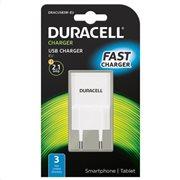 Φορτιστής Ταξιδίου Duracell με Έξοδο USB 2.1A Λευκό