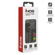 inos Hands Free Stereo 3.5mm Flatron II με Μικρά Ακουστικά Μαύρο