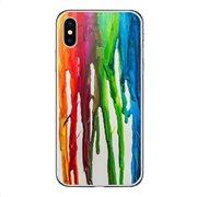Θήκη TPU inos Apple iPhone X/ iPhone XS Art Theme Vertical Watercolor