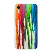 Θήκη TPU inos Apple iPhone XR Art Theme Vertical Watercolor