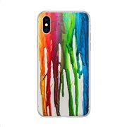 Θήκη TPU inos Apple iPhone XS Max Art Theme Vertical Watercolor