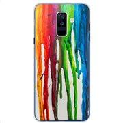 Θήκη TPU inos Samsung A605F Galaxy A6 Plus (2018) Art Theme Vertical Watercolor