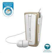Στερεοφωνικό Ακουστικό Bluetooth iPro RH219s Retractable με Δόνηση Λευκό-Χρυσό
