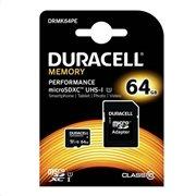 Κάρτα μνήμης Micro SDHC C10 UHS-I U1 Performance Duracell 80MB/s 64Gb + 1ADP