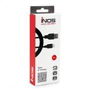 Καλώδιο Σύνδεσης USB 2.0 inos USB A σε Micro USB 1m Μαύρο
