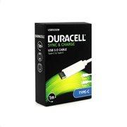 Καλώδιο Σύνδεσης USB 3.0 Duracell USB C σε USB C 1m Λευκό