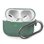 Θήκη Σιλικόνης AhaStyle PT-P1 Apple AirPods Pro Premium με Γάντζο Σκούρο Πράσινο