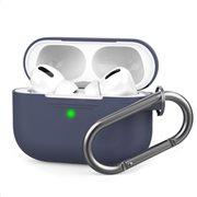 Θήκη Σιλικόνης AhaStyle PT-P1 Apple AirPods Pro Premium με Γάντζο Σκούρο Μπλε